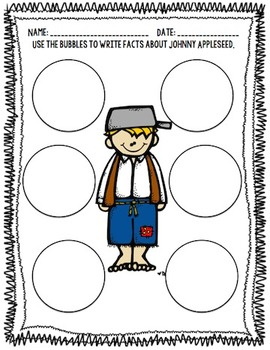 Johnny Appleseed Book with Comprehension Packet