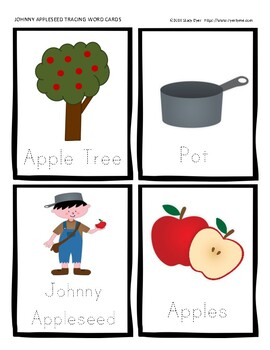 Johnny Appleseed Card and Activity Set