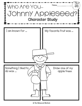 Johnny Appleseed Character Study FREEBIE