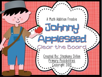 Johnny Appleseed Clear the Board Math Freebie!
