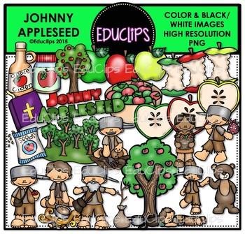Johnny Appleseed Clip Art Bundle {Educlips Clipart}