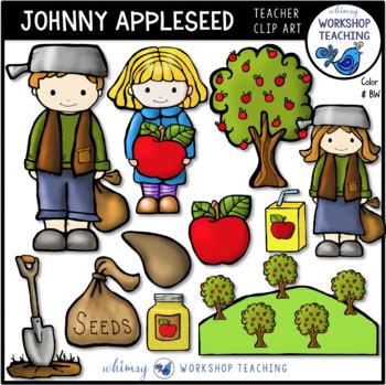 Johnny Appleseed Clip Art - Whimsy Workshop Teaching