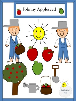 Johnny Appleseed Clipart