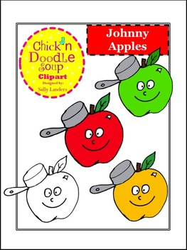 Johnny Appleseed Clipart {Chick'n Doodle Soup}