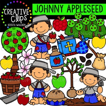 Johnny Appleseed Clipart {Creative Clips Clipart}