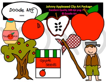 Johnny Appleseed Clipart Pack