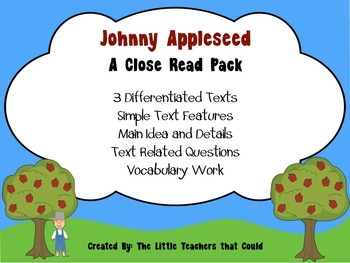 Johnny Appleseed Close Read Pack