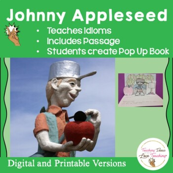 Johnny Appleseed Activities on Idioms and Diorama Pop up Book
