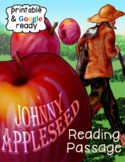 Johnny Appleseed Close Reading Comprehension Passage and Questions