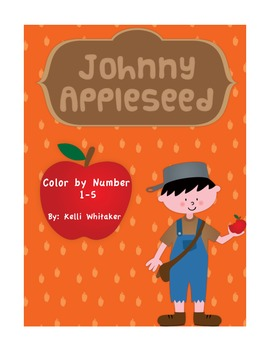 Johnny Appleseed Color by Number