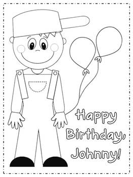 Johnny Appleseed Coloring Page by D Conway | Teachers Pay Teachers