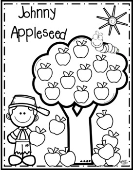Johnny Appleseed Color Page {Texas Twist Scribbles}