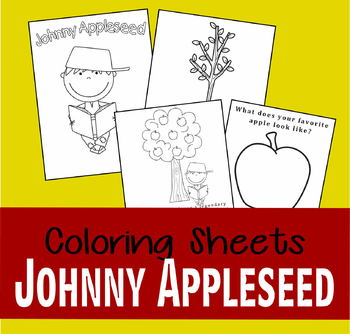 Johnny Appleseed Coloring Sheets