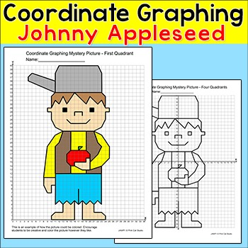Johnny Appleseed Coordinate Graphing Ordered Pairs Mystery Picture