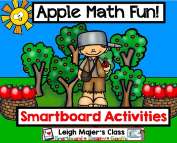 Johnny Appleseed Counting and Number Fun for Smartboard