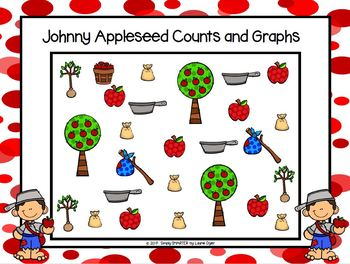 Johnny Appleseed Counts and Graphs:  NO PREP Data Collection Activities