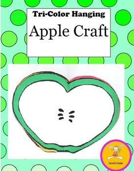 Johnny Appleseed Craft - Tri Apple Hanging Craft