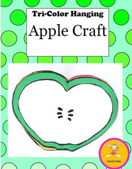 Johnny Appleseed Craft - Tri Apple Hanging Craft