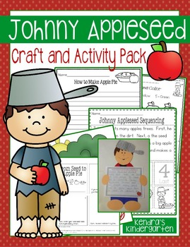 Johnny Appleseed Craft And Activity Pack By Kendra S Kindergarten