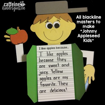 Johnny Appleseed Craft And Writing Activity By Caffeine And Kindergarten
