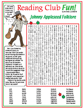 Johnny Appleseed Crossword and Word Search Puzzles
