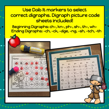 Johnny Appleseed Digraphs Dab It - S