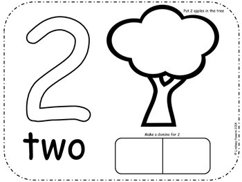 Johnny Appleseed Dough Number Mats 1-10