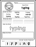 Johnny Appleseed - Editable Word Worksheet w/ Theme Focus