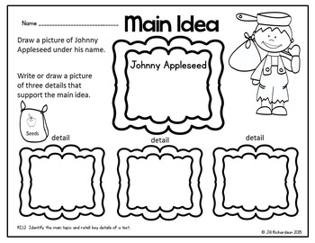Johnny Appleseed Emergent Reader! Johnny Appleseed Activities