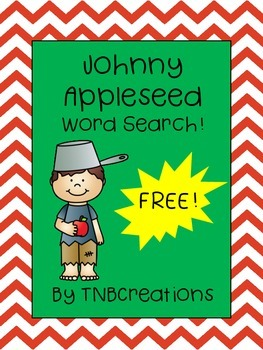 FREE Johnny Appleseed Word Search