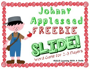 Johnny Appleseed FREEBIE Word Game: SLIDE!