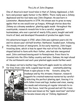 Johnny Appleseed FSA Style Comprehension