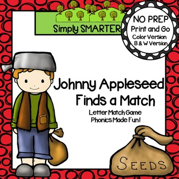 Johnny Appleseed Finds a Match:  NO PREP Letter Spin and C