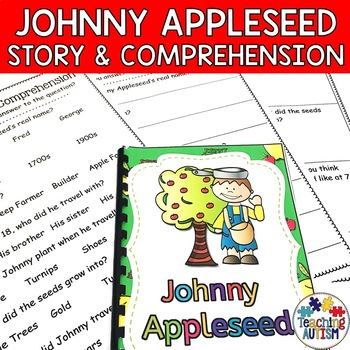 Johnny Appleseed Flashcard Story Bundle with Comprehension