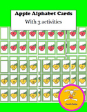 Johnny Appleseed - Game /Upper and Lower Case Alphabet Cards with 3 Activities