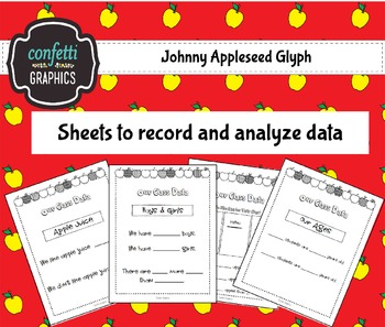 Johnny Appleseed Glyph CCSS Legend Directions Pictures Analyze Record Data K 1