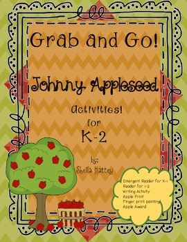 Johnny Appleseed Grab andGo Activities for K-2