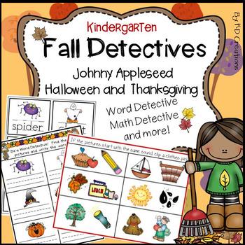 Johnny Appleseed * Halloween * Thanksgiving: Kindergarten