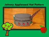 Johnny Appleseed Hat/ Black and White & Colored Pattern