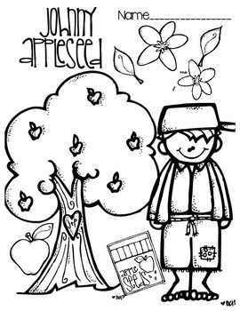 Johnny Appleseed Hat & Coloring Page