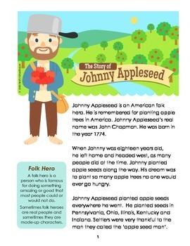 Canny image throughout johnny appleseed printable story