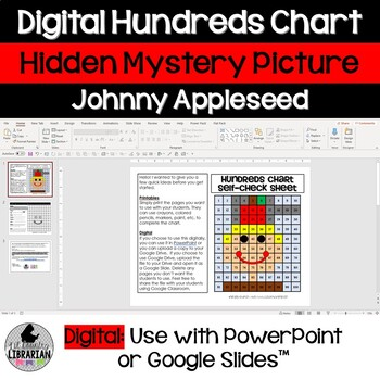 Johnny Appleseed Hundreds Chart Hidden Picture Activity for Math