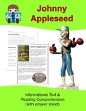 Johnny Appleseed Informational Text & Reading Comprehension