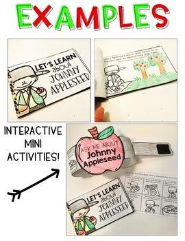 Johnny Appleseed Interactive Activities