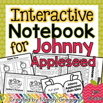 Johnny Appleseed Interactive Notebook Activities (Cross- C