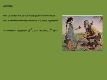Johnny Appleseed - John Chapman Power Point Real life story history facts