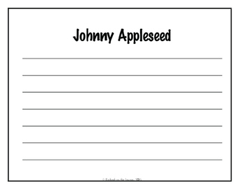 Johnny Appleseed Learning Pack