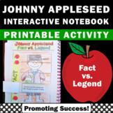 Johnny Appleseed Reading Activities, Fact vs Legend Interactive Notebook