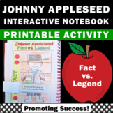 Johnny Appleseed Activity Interactive Notebook for Apples Fables Folktales Unit