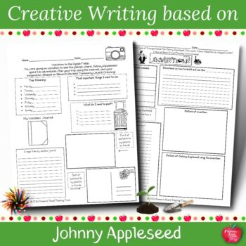 Johnny Appleseed Creative Writing Activities based on Bloo